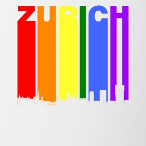 Zurich Switzerland Skyline Rainbow LGBT Gay Pride - Contrast Coffee Mug