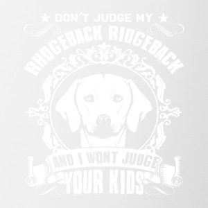Dont Judge Rhodesian Ridgeback Shirt - Contrast Coffee Mug