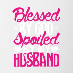 Blessed By God Spoiled By My Husband TShir - Contrast Coffee Mug