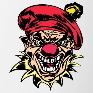 EVIL_CLOWN_29_colored - Contrast Coffee Mug