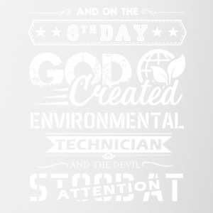 God Created Environmental Technician Shirt - Contrast Coffee Mug