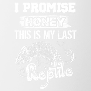 I Promise Honey This Is My Last Reptile Shirt - Contrast Coffee Mug