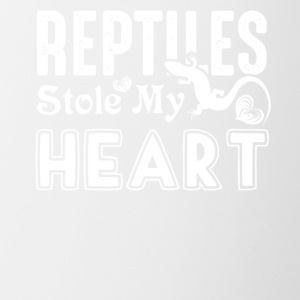 Reptiles Stole My Heart Shirts - Contrast Coffee Mug