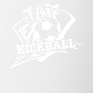 I Love Kickball Shirt - Contrast Coffee Mug
