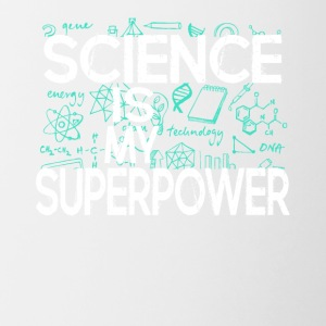 SCIENCE SUPER POWER TEE SHIRT - Contrast Coffee Mug