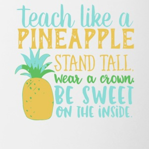 Teach Like A Pineapple T Shirt - Contrast Coffee Mug