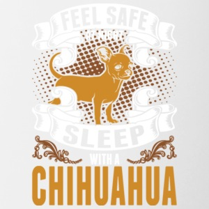 Feel Safe At Night Sleep With Chihuahua T Shirt - Contrast Coffee Mug