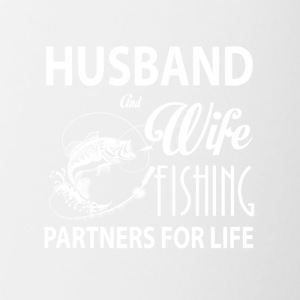 Husband And Wife Fishing Partners For Life T Shirt - Contrast Coffee Mug