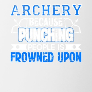 Archery Because Punching People is Frowned Upon - Contrast Coffee Mug