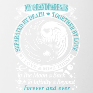 My grandparents I love miss them To the moon back - Contrast Coffee Mug
