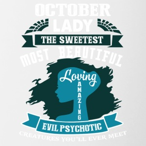 October lady The sweetest Most beautiful - Contrast Coffee Mug