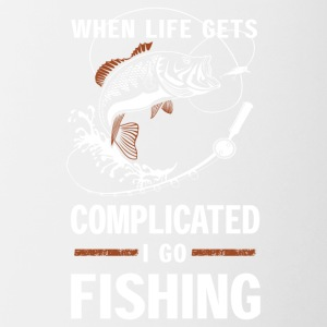 When life gets complicated I go fishing - Contrast Coffee Mug