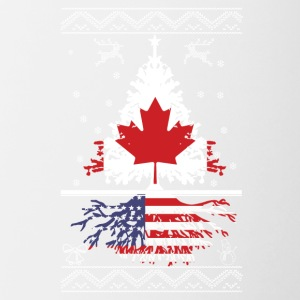 Canadian with American root - Contrast Coffee Mug