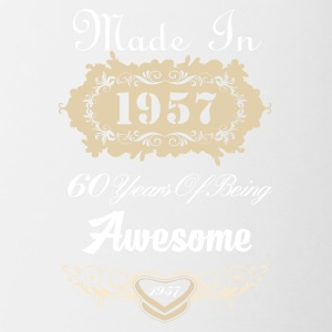 Made in 1957 60 years of being awesome - Contrast Coffee Mug