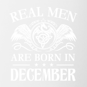 Real men are born in december - Contrast Coffee Mug