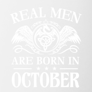 Real men are born in october - Contrast Coffee Mug