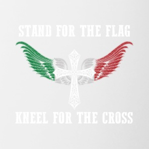 Stand for the flag Italy kneel for the cross - Contrast Coffee Mug