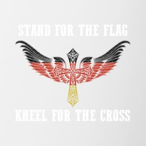Stand for the flag germany kneel for the cross - Contrast Coffee Mug