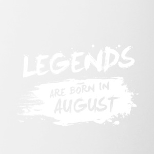 Legends are born in August - Contrast Coffee Mug