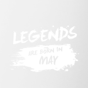 Legends are born in May - Contrast Coffee Mug