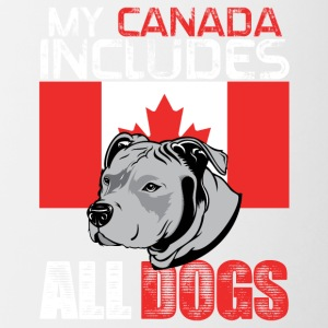 My Canada includes all dogs - Contrast Coffee Mug