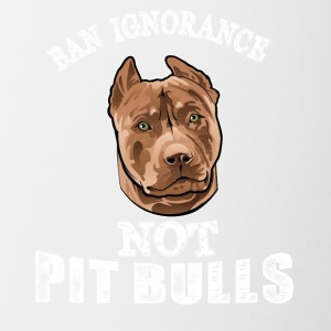Ban ignorance not pit nulls - Contrast Coffee Mug