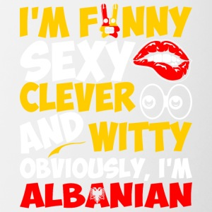 Im Funny Sexy Clever And Witty Im Albanian - Contrast Coffee Mug