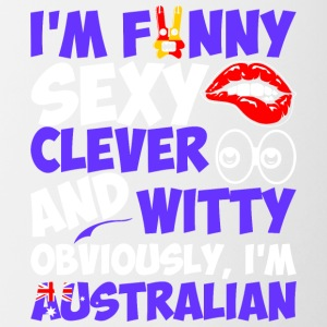 Im Funny Sexy Clever And Witty Im Australian - Contrast Coffee Mug