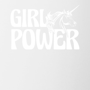 Unicorn Girl Power Shirt - Contrast Coffee Mug