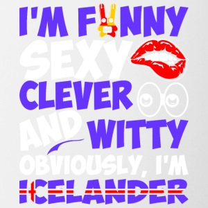 Im Funny Sexy Clever And Witty Im Icelander - Contrast Coffee Mug