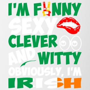 Im Funny Sexy Clever And Witty Im Irish - Contrast Coffee Mug