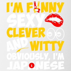 Im Funny Sexy Clever And Witty Im Japanese - Contrast Coffee Mug