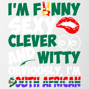 Im Funny Sexy Clever And Witty Im South African - Contrast Coffee Mug