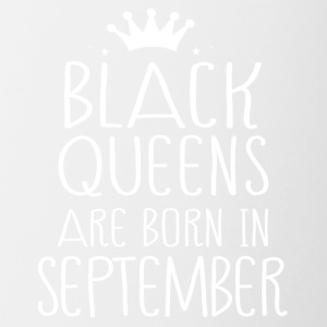 Black queens are born in September - Contrast Coffee Mug