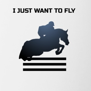 WANT TO FLY - Contrast Coffee Mug