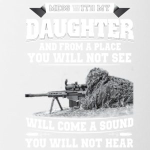 MESS WITH MY DAUGHTER - Contrast Coffee Mug