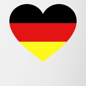 Germany Flag Love Heart Patriotic Symbol - Contrast Coffee Mug