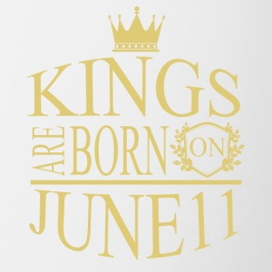 Kings are born on June 11 - Contrast Coffee Mug