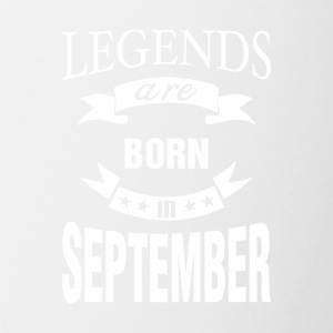 Legends are born in September - Contrast Coffee Mug