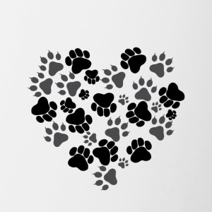 Cat and Dog Paws - Contrast Coffee Mug