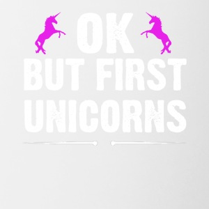 OK But First Unicorns - Contrast Coffee Mug