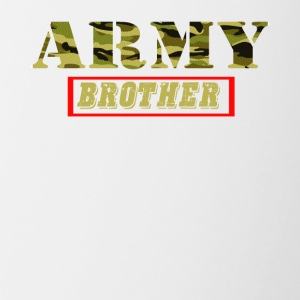 Army Brother - Proud Army Brother T-Shirt - Contrast Coffee Mug