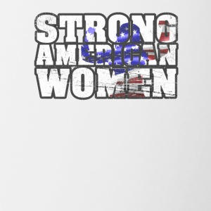 Womens Patriotic 4th Of July Strong American Women - Contrast Coffee Mug