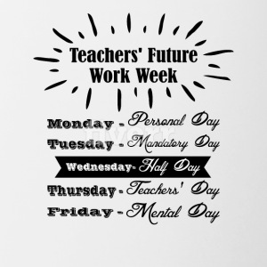 Teachers Future Work Week png 1 - Contrast Coffee Mug