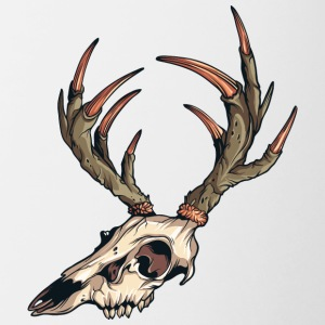 deer_skull - Contrast Coffee Mug