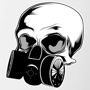 skull_with_gas_mask - Contrast Coffee Mug