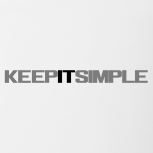 Keep IT simple - Contrast Coffee Mug
