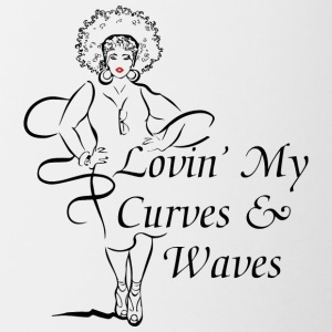 Curves Waves Trans - Contrast Coffee Mug