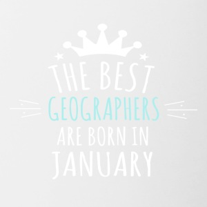 Best GEOGRAPHERS are born in january - Contrast Coffee Mug