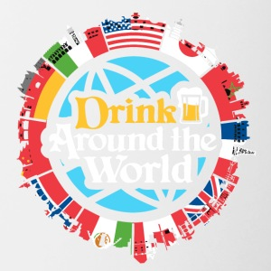 drink around the world - Contrast Coffee Mug